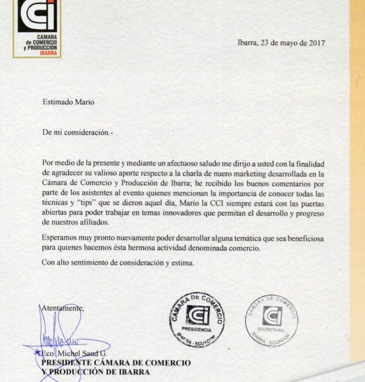 Cámara de Comercio Ibarra